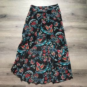 Forever 21 | Floral High Low Midi Skirt